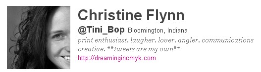 Christine Flynn: @tini_bop on Twitter